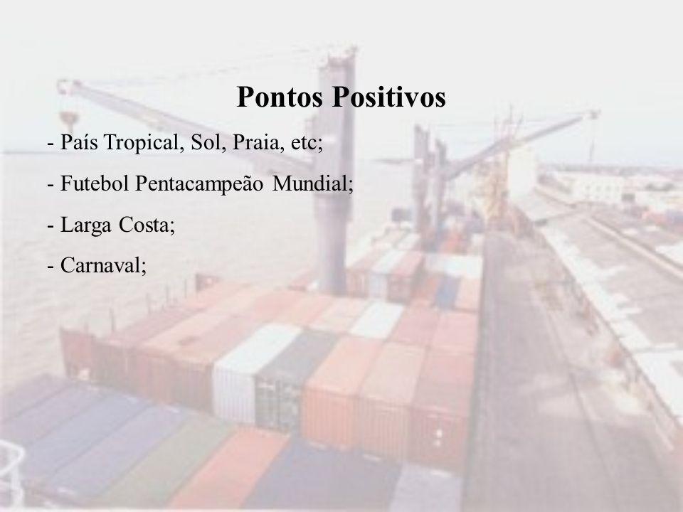 Pontos Positivos - País Tropical, Sol, Praia, etc;