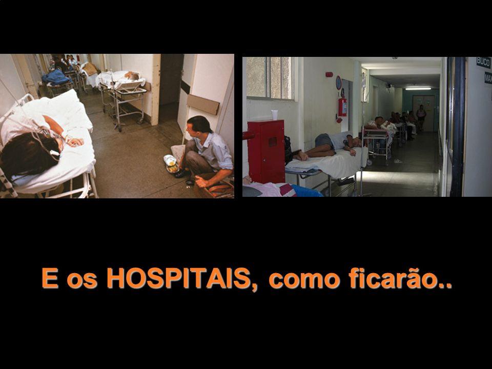 E os HOSPITAIS, como ficarão..