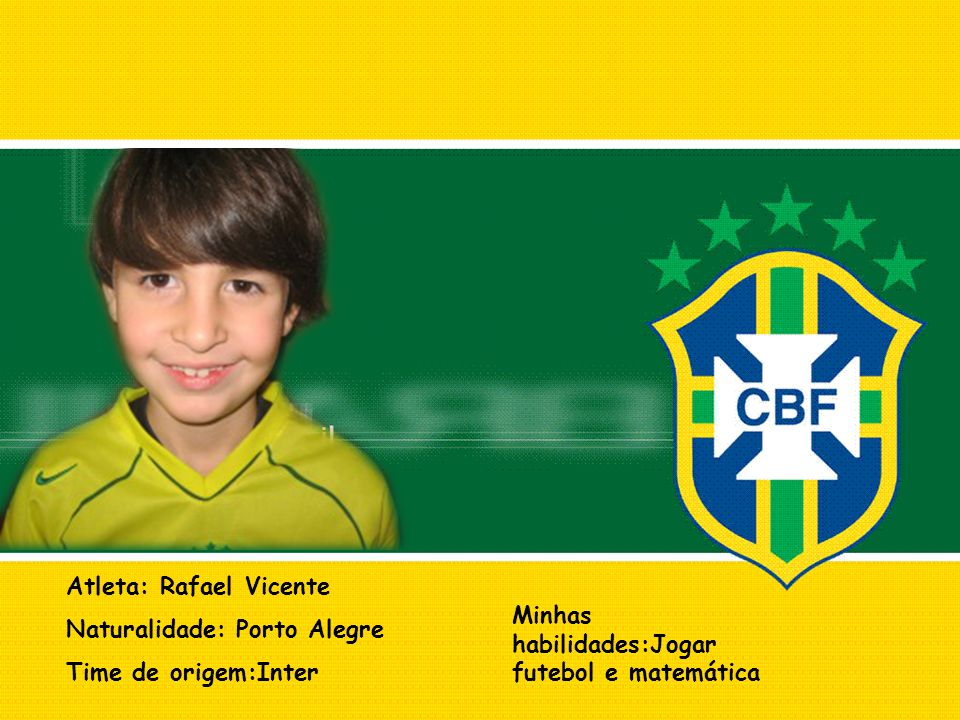 Atleta: Rafael Vicente