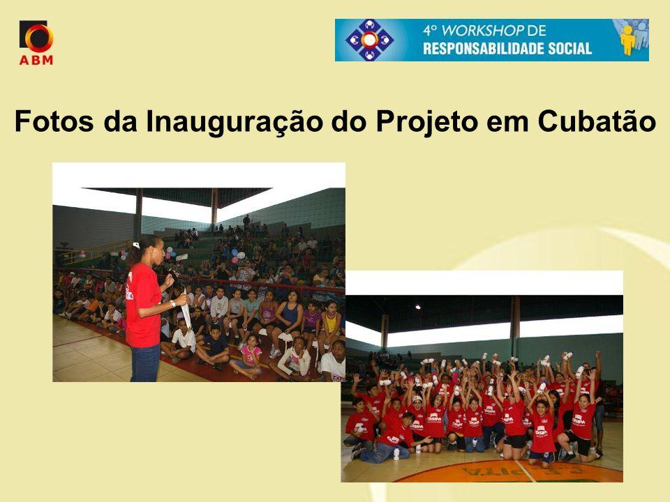 Fotos da Inauguração do Projeto em Cubatão