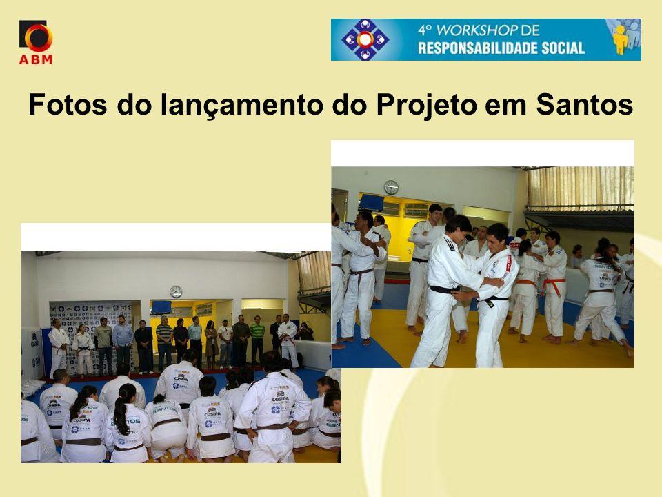 Fotos do lançamento do Projeto em Santos