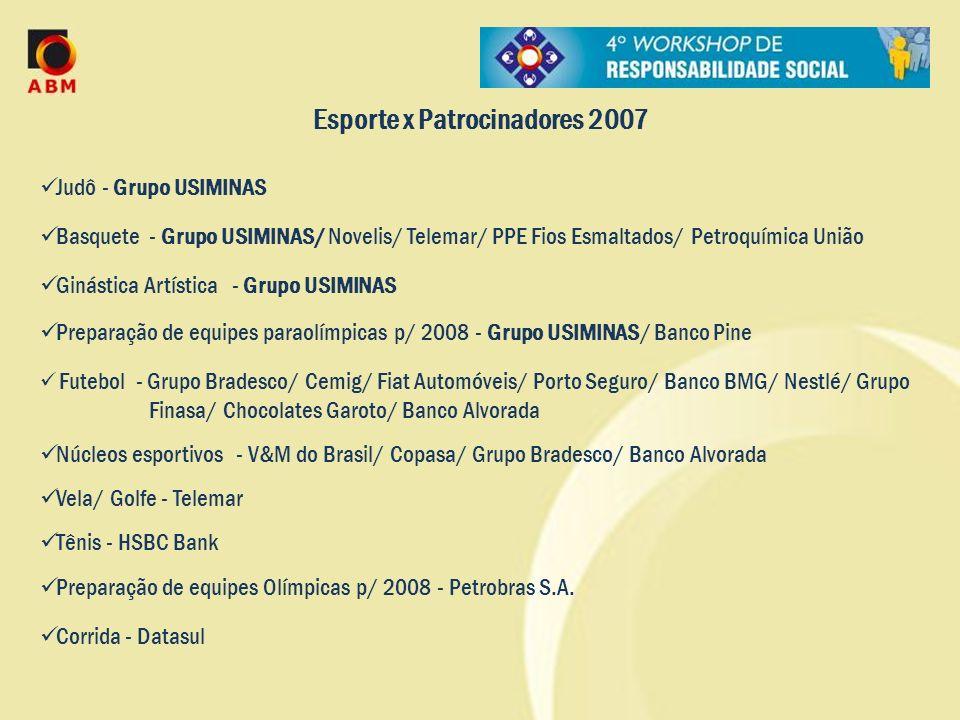 Esporte x Patrocinadores 2007