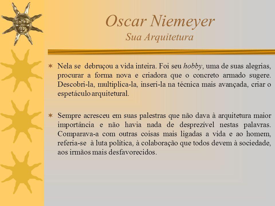 Oscar Niemeyer Sua Arquitetura