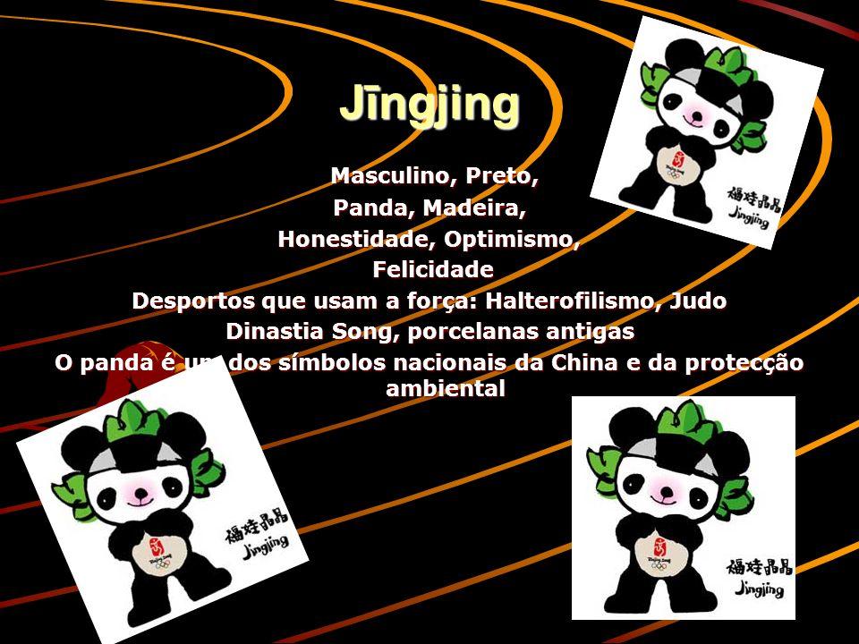 Jīngjing Masculino, Preto, Panda, Madeira, Honestidade, Optimismo,