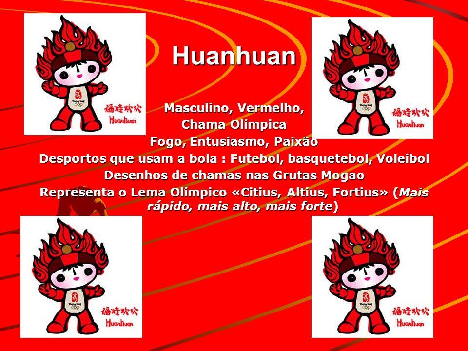 Huanhuan Masculino, Vermelho, Chama Olímpica Fogo, Entusiasmo, Paixão