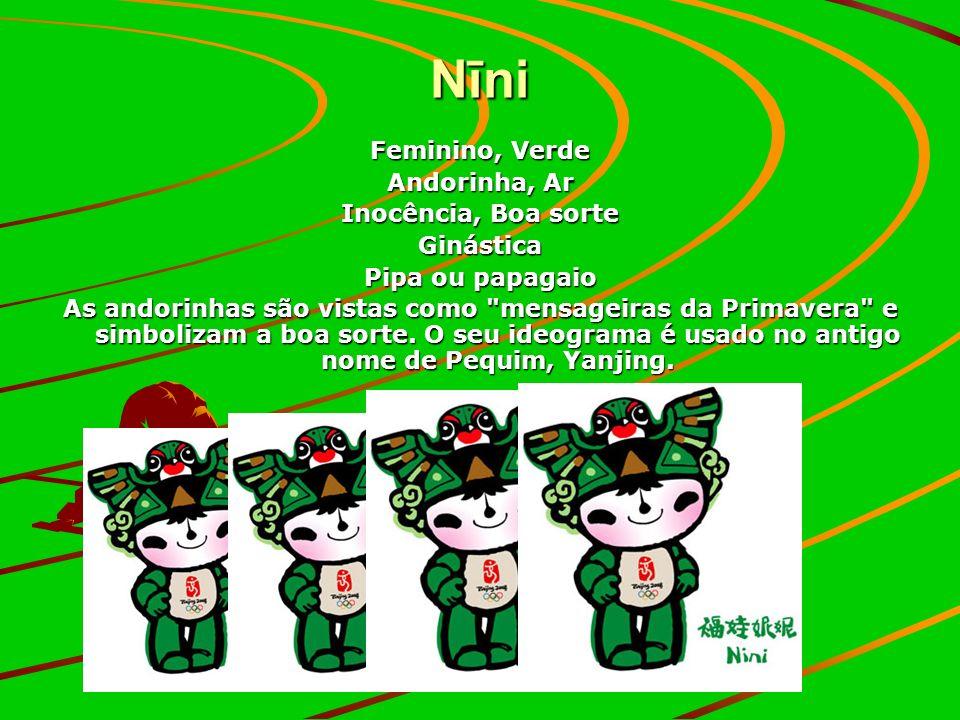Nīni Feminino, Verde Andorinha, Ar Inocência, Boa sorte Ginástica