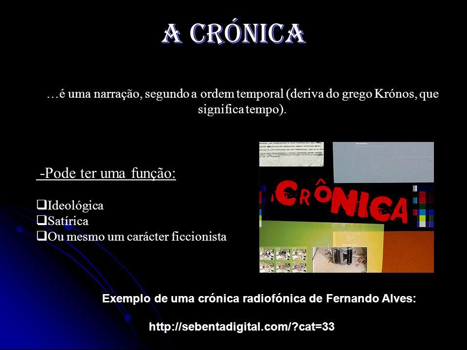 A crónica -Pode ter uma função: