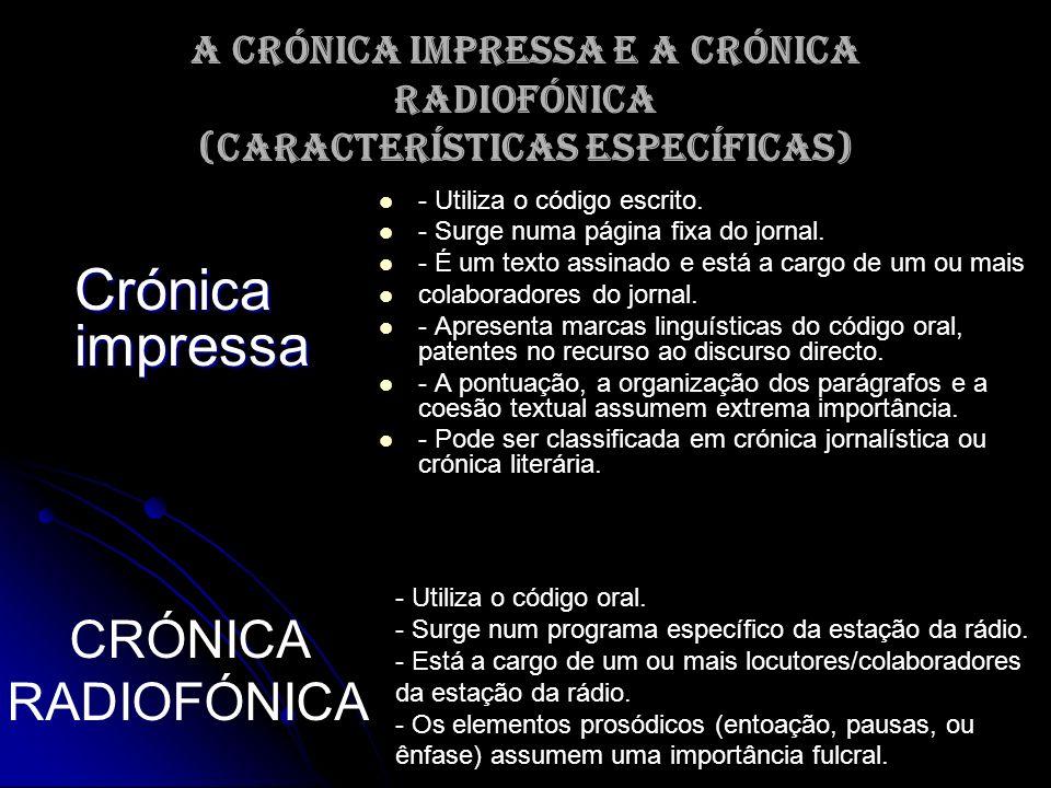 Crónica impressa CRÓNICA RADIOFÓNICA