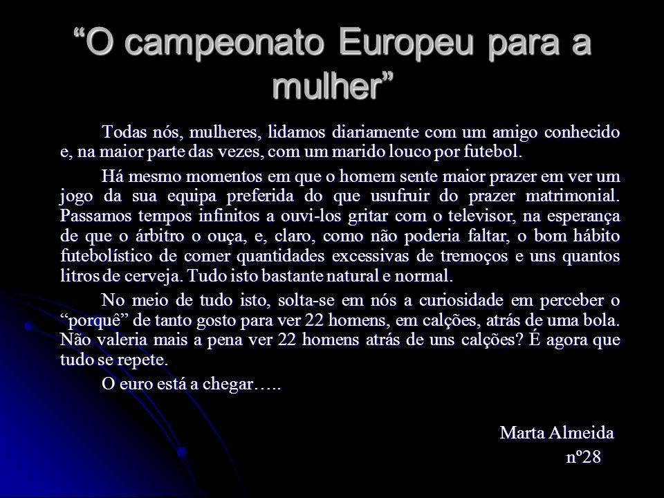 O campeonato Europeu para a mulher