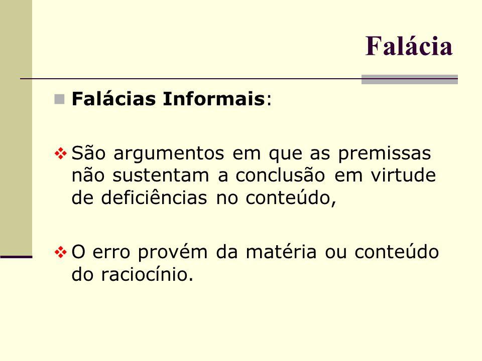 Falácia Falácias Informais: