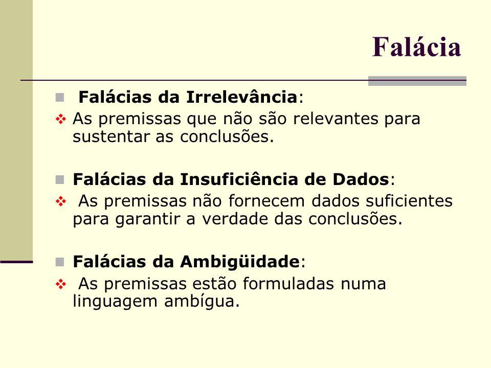 Falácia Falácias da Irrelevância: