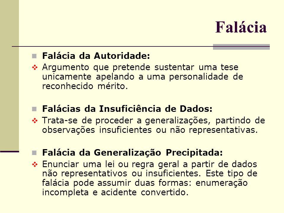 Falácia Falácia da Autoridade: