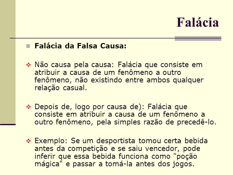 Falácia Falácia da Falsa Causa: