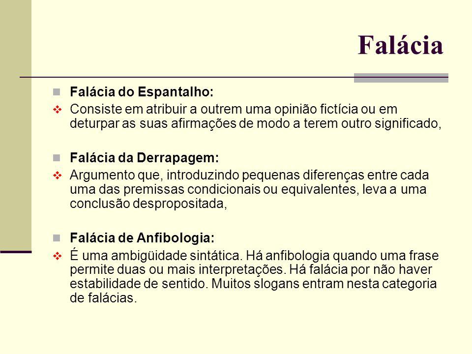 Falácia Falácia do Espantalho:
