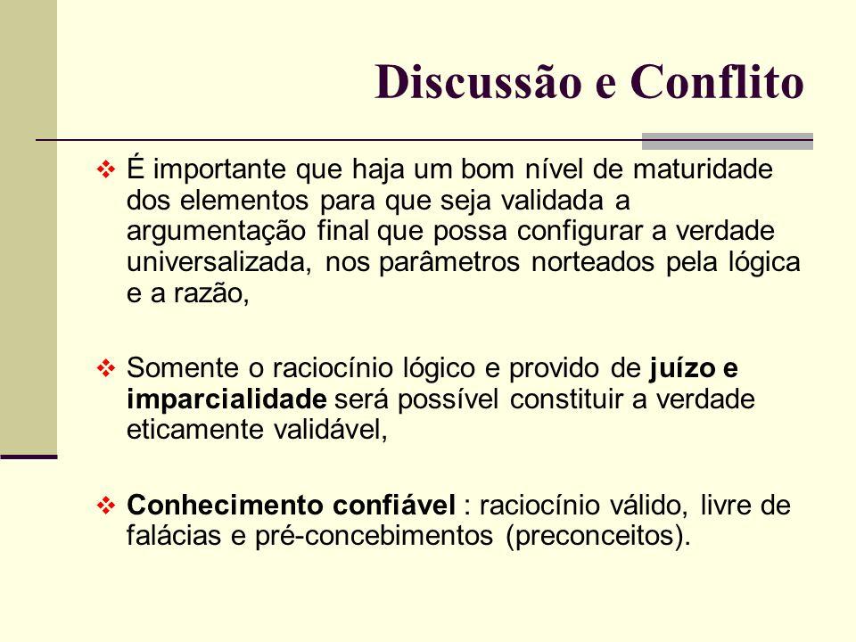 Discussão e Conflito