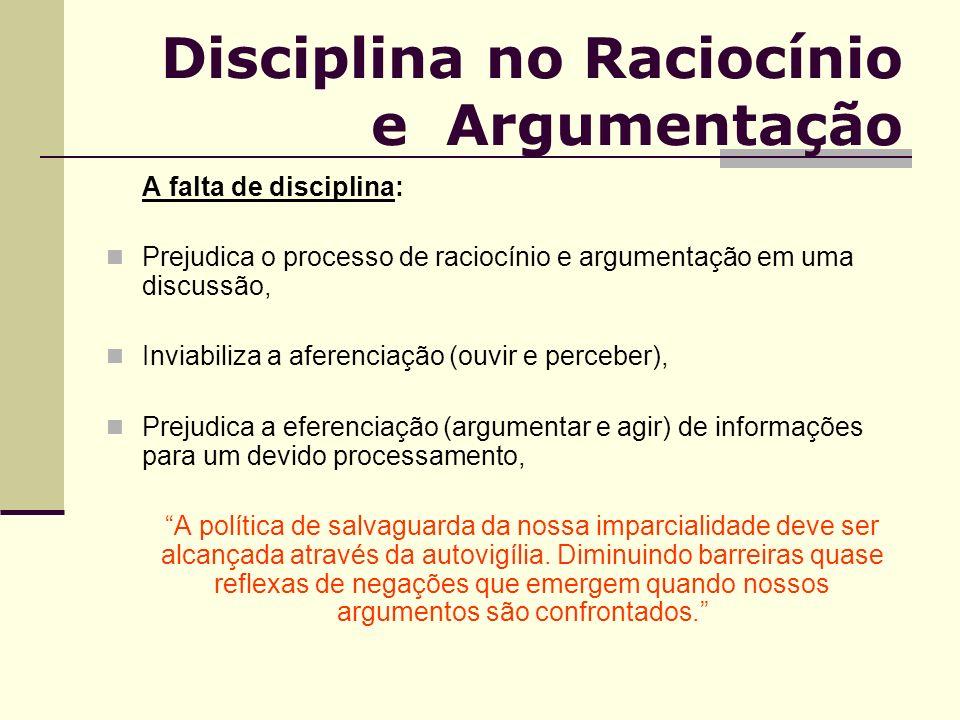 Disciplina no Raciocínio e Argumentação