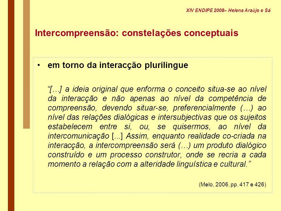 Intercompreensão: constelações conceptuais