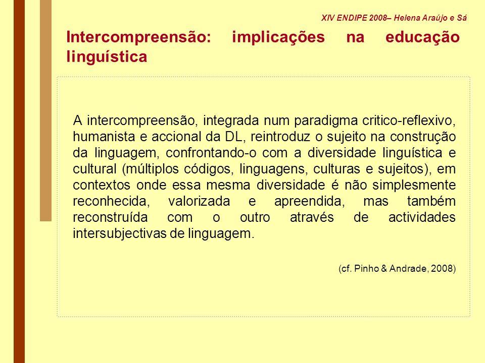 Intercompreensão: implicações na educação linguística