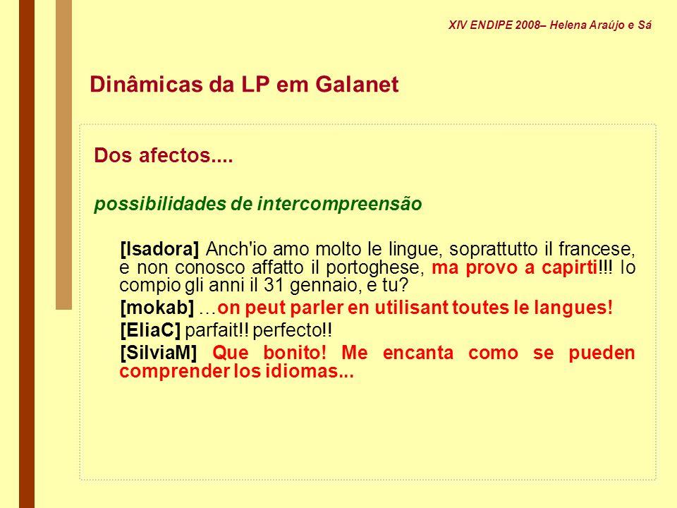 Dinâmicas da LP em Galanet
