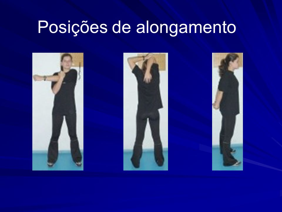 Posições de alongamento