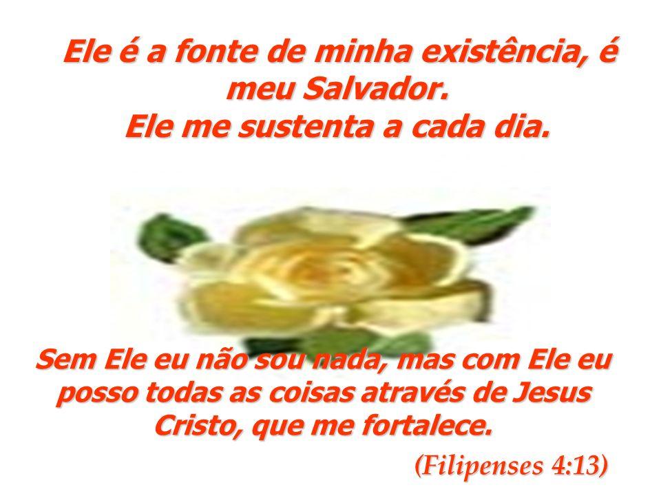 Ele é a fonte de minha existência, é meu Salvador.
