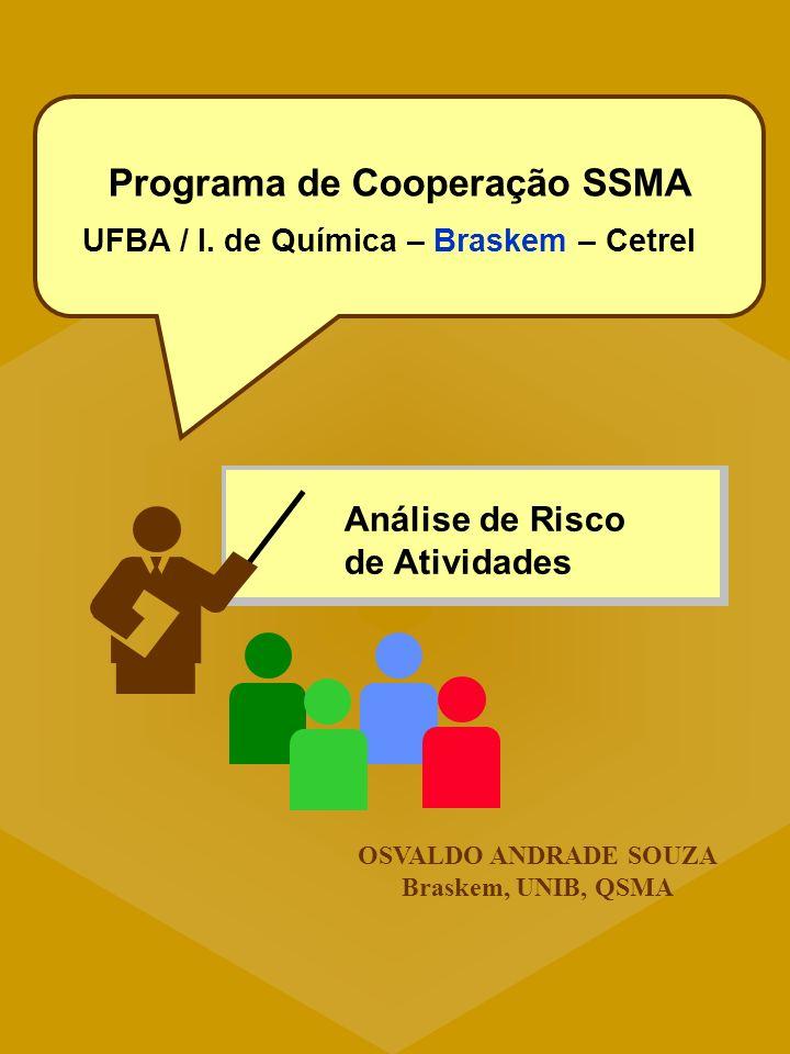 Programa de Cooperação SSMA UFBA / I. de Química – Braskem – Cetrel