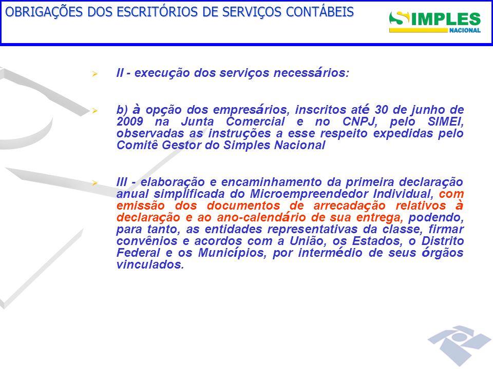 OBRIGAÇÕES DOS ESCRITÓRIOS DE SERVIÇOS CONTÁBEIS