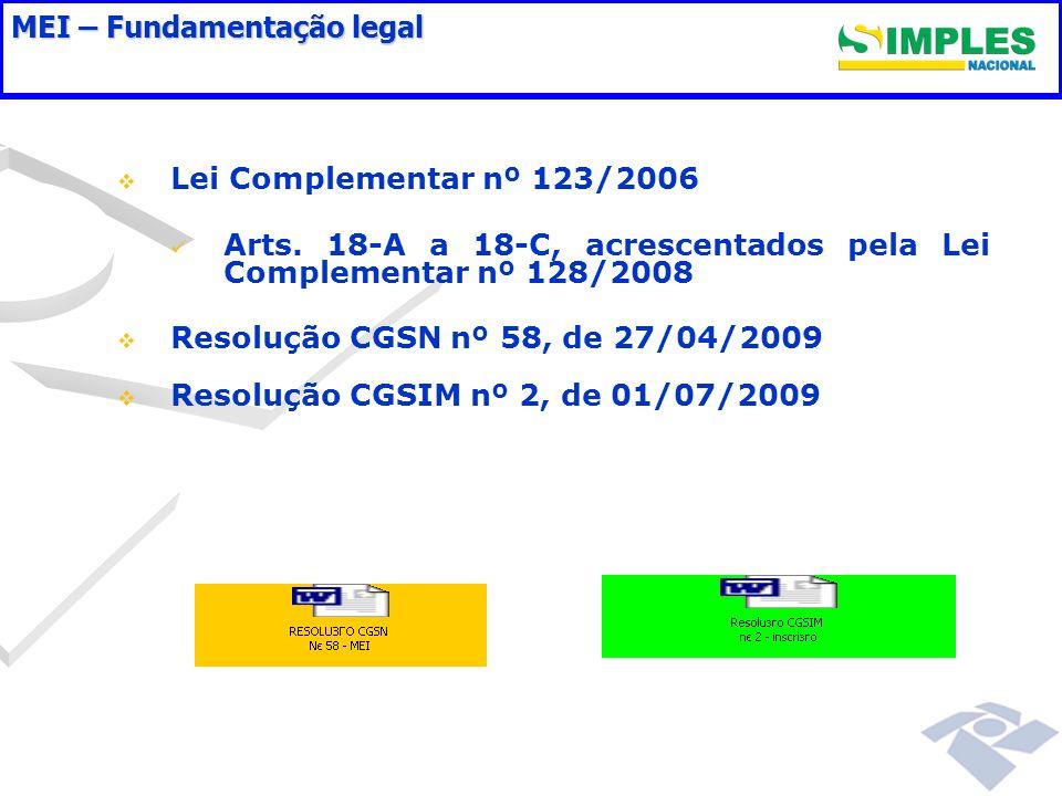 MEI – Fundamentação legal