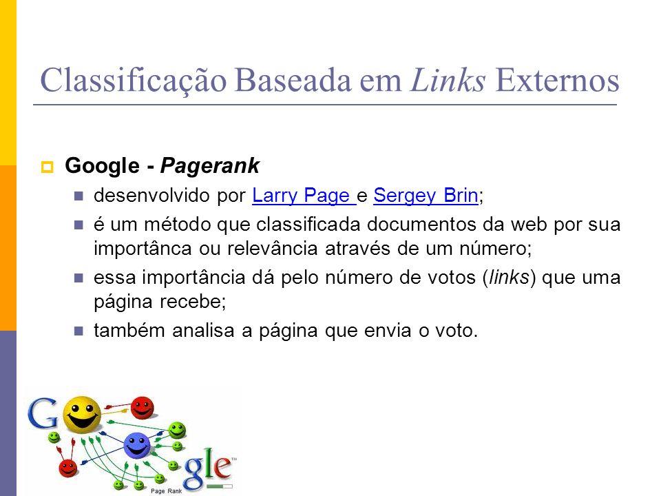 Classificação Baseada em Links Externos