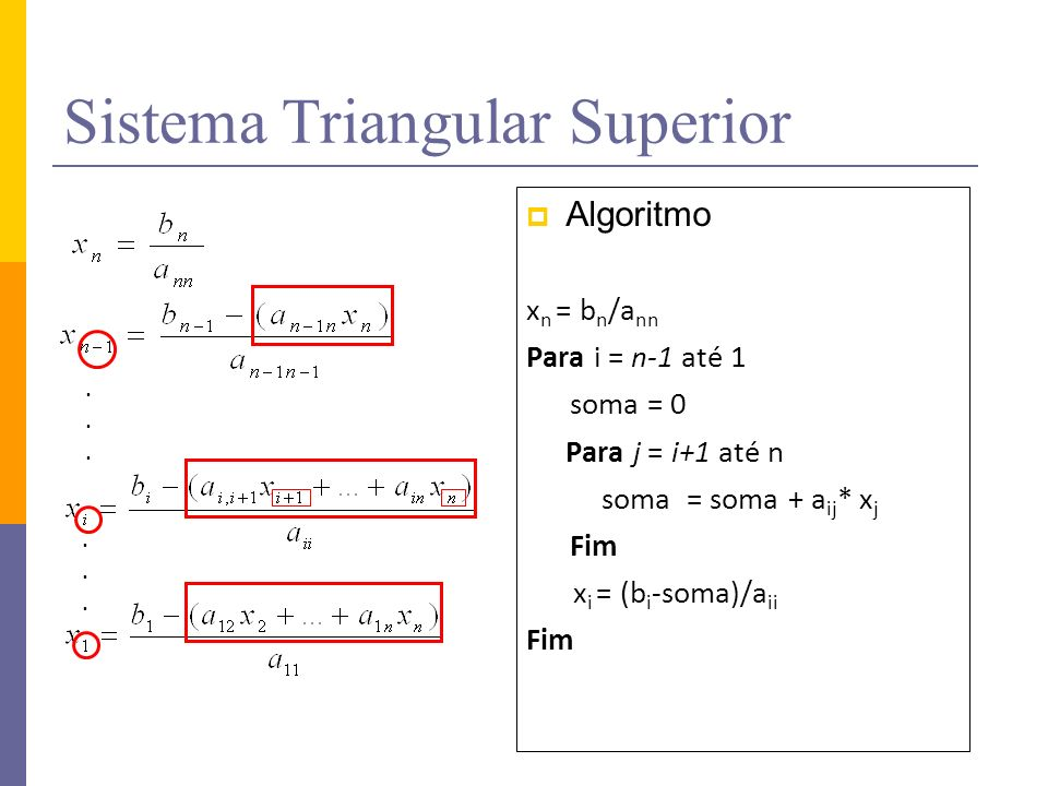 Sistema Triangular Superior