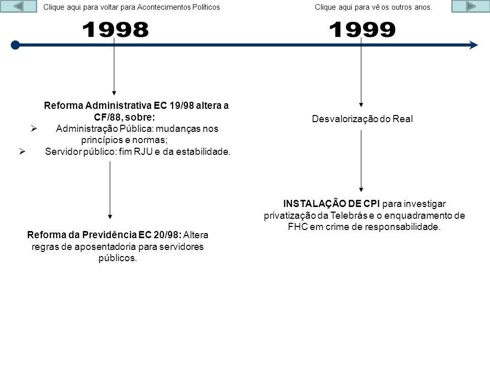 Reforma Administrativa EC 19/98 altera a CF/88, sobre: