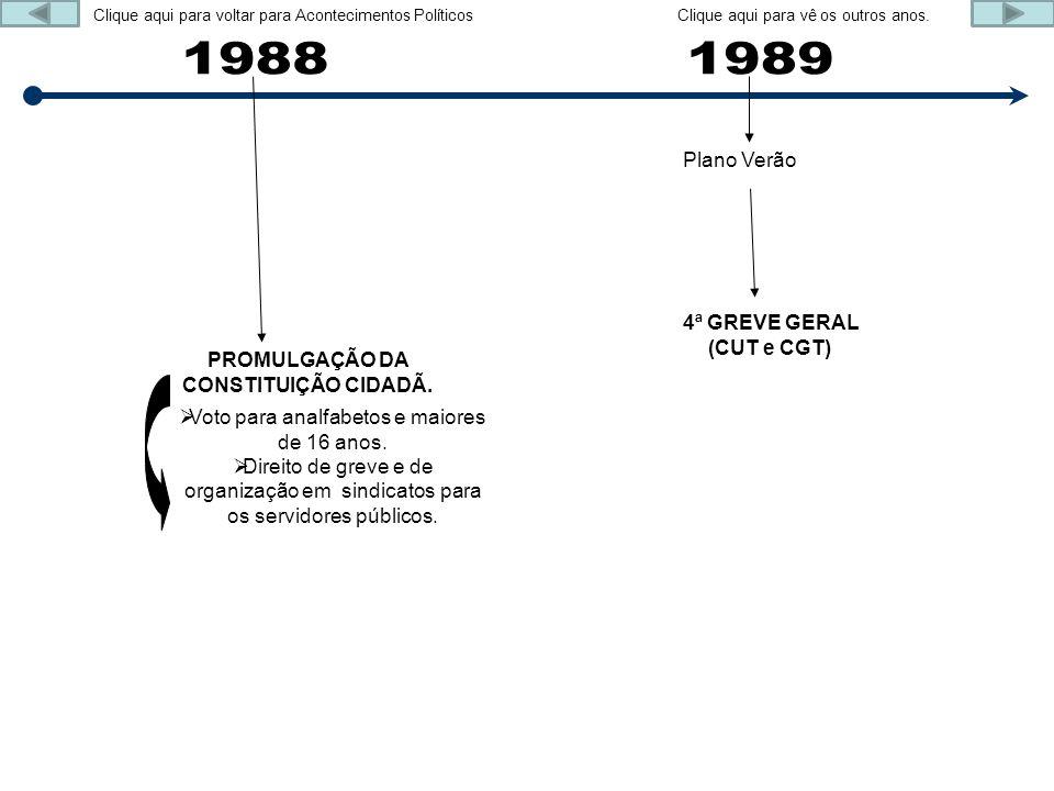 PROMULGAÇÃO DA CONSTITUIÇÃO CIDADÃ.