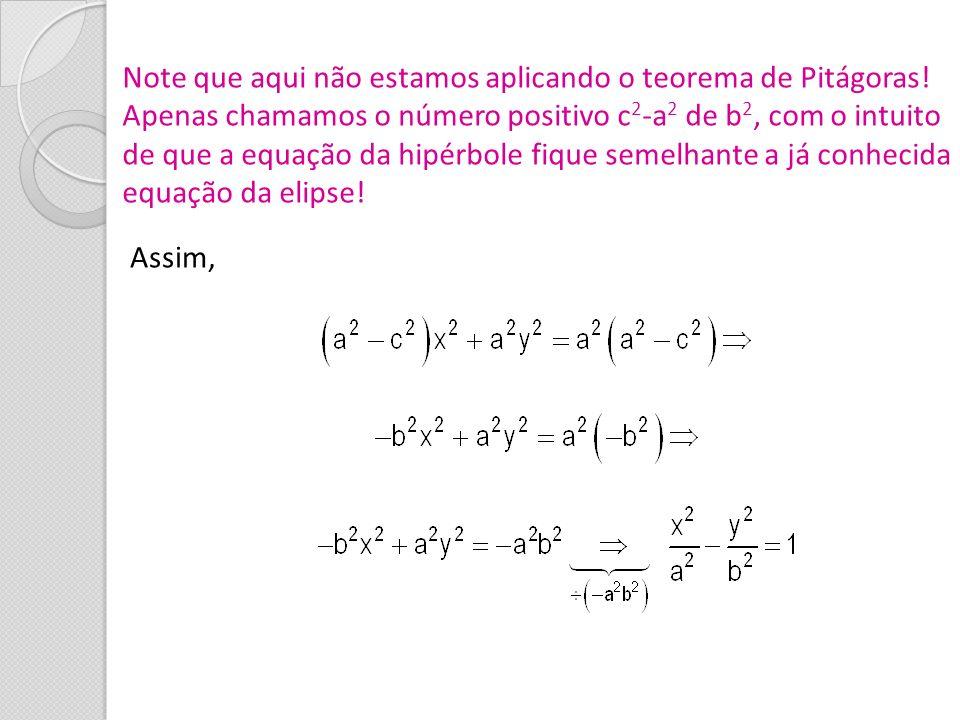 Note que aqui não estamos aplicando o teorema de Pitágoras!