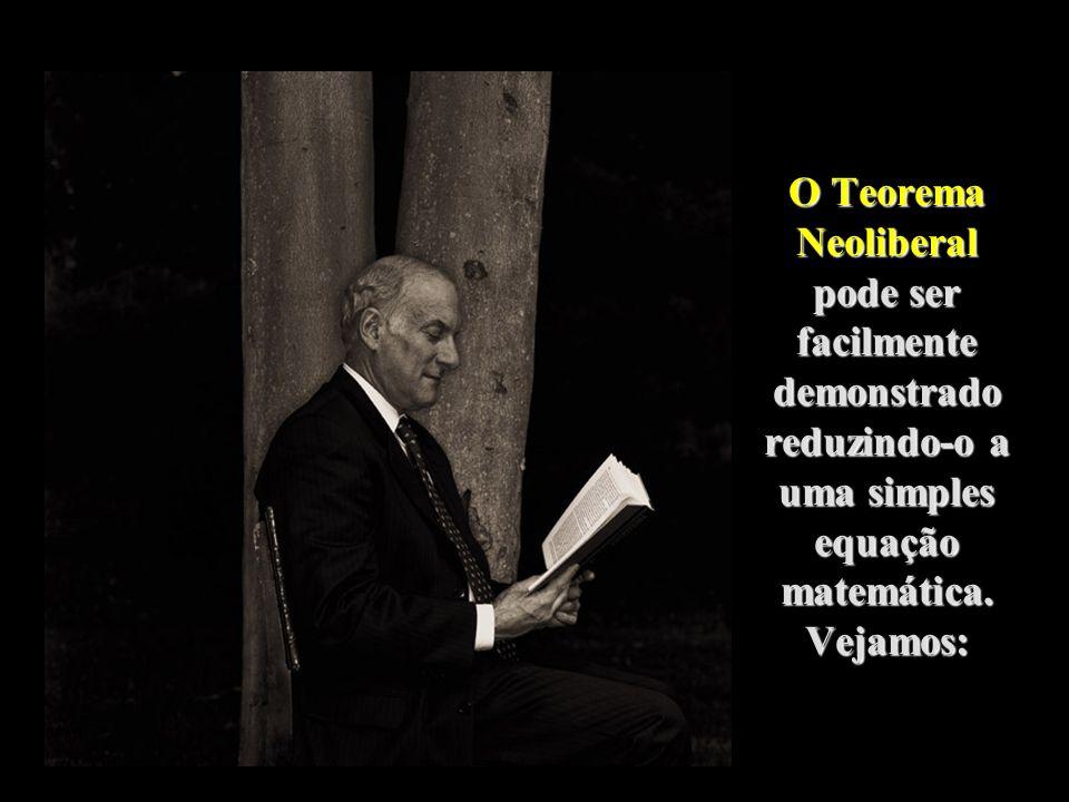 O Teorema Neoliberal pode ser facilmente demonstrado reduzindo-o a uma simples equação matemática.