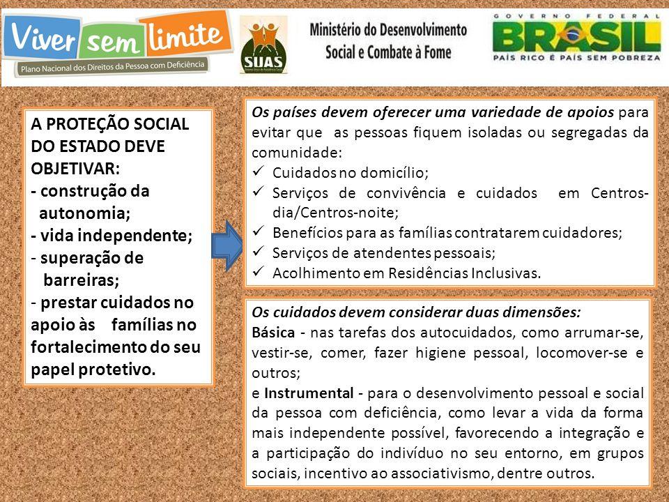 A PROTEÇÃO SOCIAL DO ESTADO DEVE OBJETIVAR: