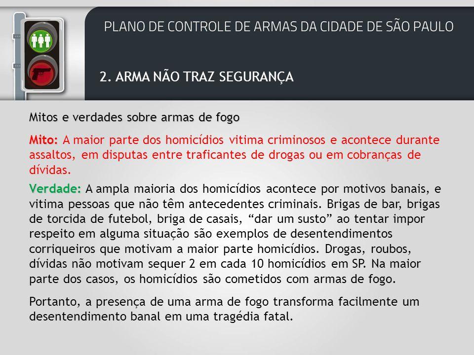 2. ARMA NÃO TRAZ SEGURANÇA
