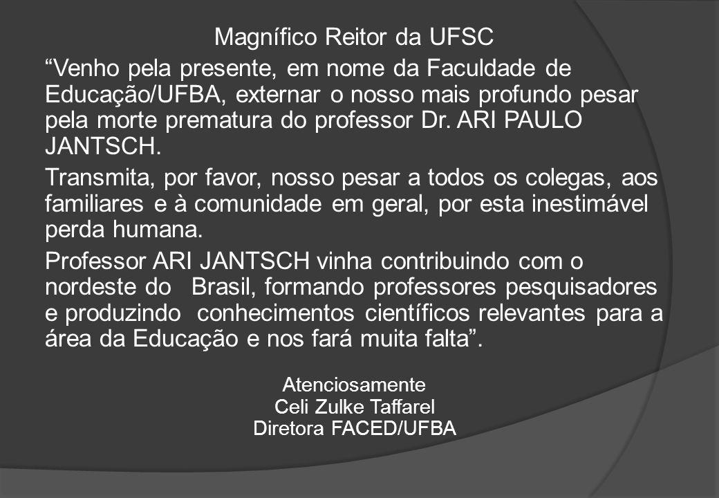 Magnífico Reitor da UFSC