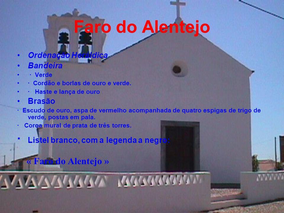 Faro do Alentejo · Listel branco, com a legenda a negro:
