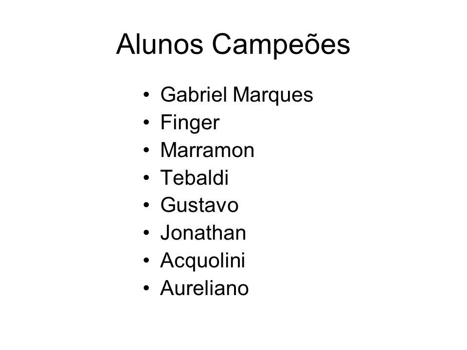 Alunos Campeões Gabriel Marques Finger Marramon Tebaldi Gustavo