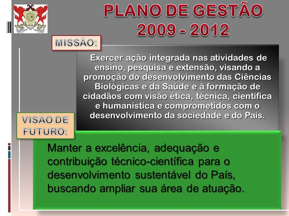 PLANO DE GESTÃO 2009 - 2012. MISSÃO: