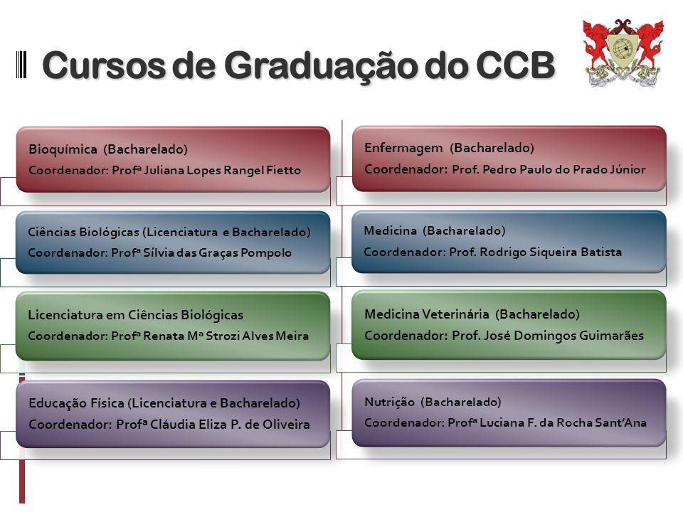 Cursos de Graduação do CCB