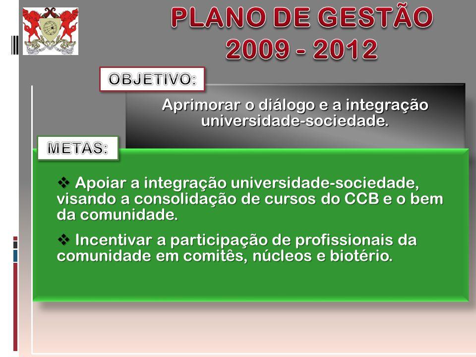 Aprimorar o diálogo e a integração universidade-sociedade.