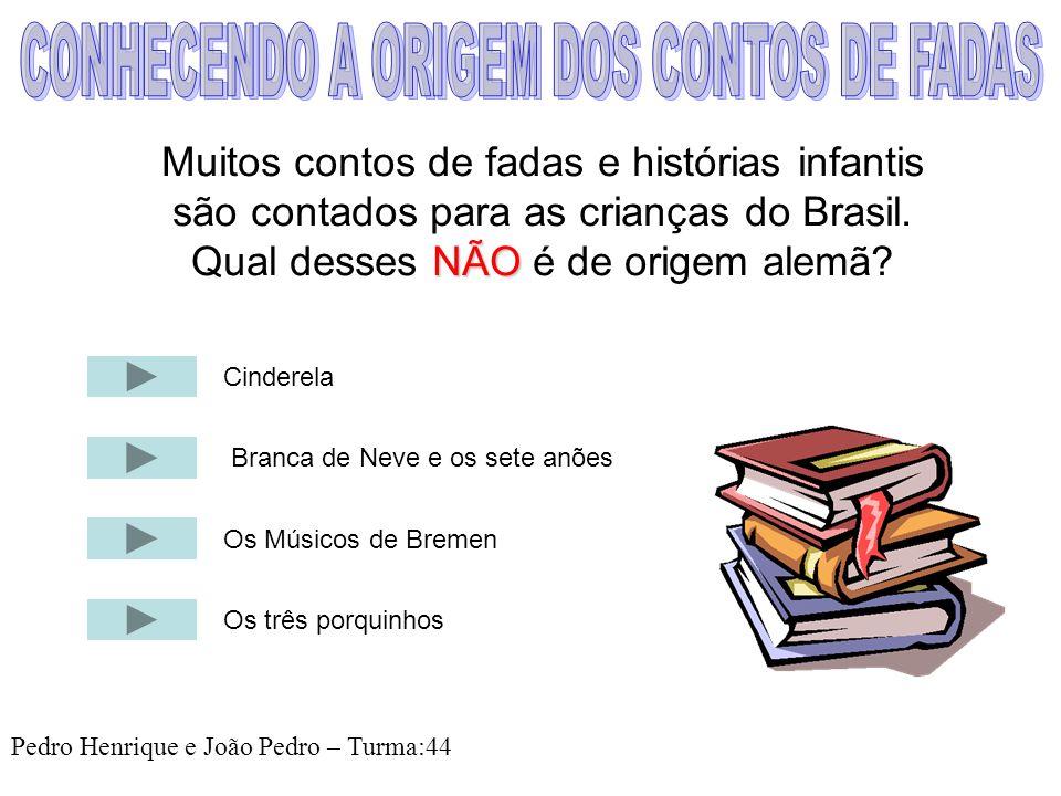 CONHECENDO A ORIGEM DOS CONTOS DE FADAS