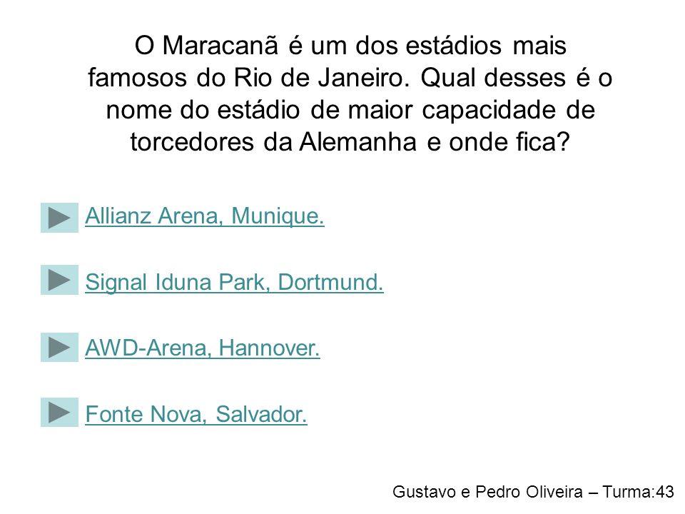 O Maracanã é um dos estádios mais famosos do Rio de Janeiro