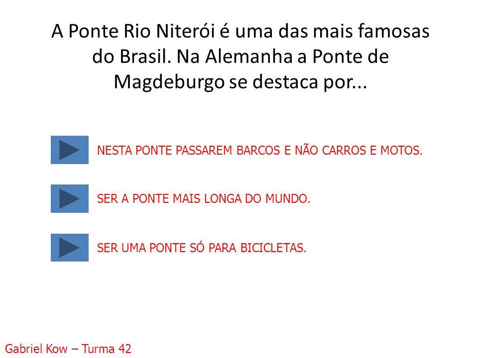 A Ponte Rio Niterói é uma das mais famosas do Brasil