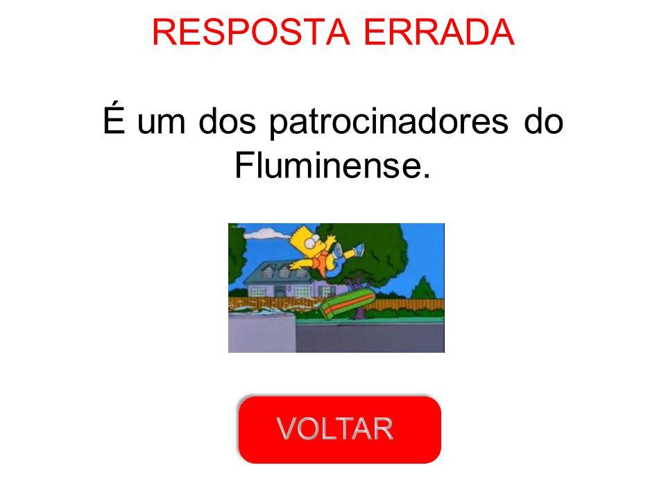 RESPOSTA ERRADA É um dos patrocinadores do Fluminense.