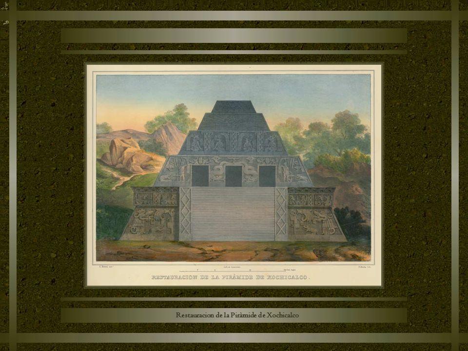 Restauracion de la Piràmide de Xochicalco