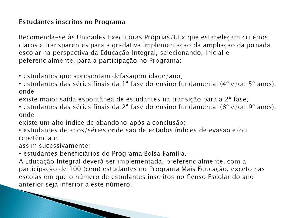 Estudantes inscritos no Programa