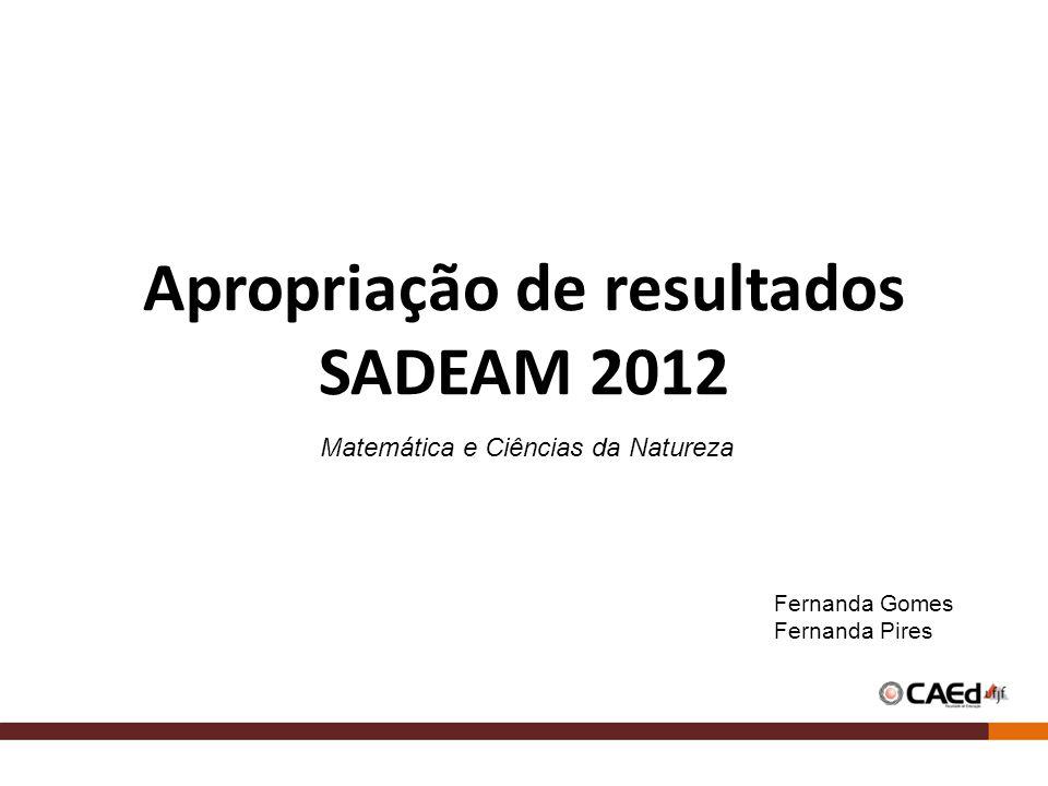 Apropriação de resultados SADEAM 2012