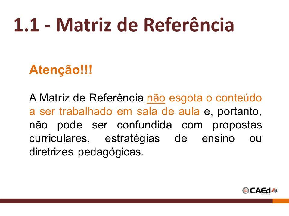 1.1 - Matriz de Referência Atenção!!!